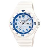 【CASIO】潛水設計運動指針錶-白X水藍(MRW-200HC-7B2)