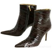 [ NG品 大放送 ] DOLCE & GABBANA 幾何拼貼短靴/踝靴(酒紅色) 0740141-A8