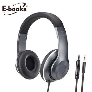 E-books S78 立體聲頭戴式耳機麥克風鐵灰
