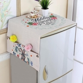 棉麻滾筒洗衣機蓋布床頭櫃多用蓋巾單開門冰箱罩雙門微波爐防塵罩『新佰 屋』