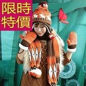 圍巾+毛帽+手套羊毛三件套-甜美明星款英倫防寒女配件2色63n49【巴黎精品】