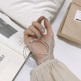 心經手鐲網紅同款傳承復古簡約990鍍銀多層細手鐲女心經手環足銀時尚三環交換禮物