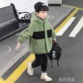 男童羊羔毛絨外套秋冬款中大童冬裝顆粒加絨加厚夾棉服兒童棉衣潮快速出貨