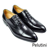 【Pelutini】橫飾牛津基本款 經典黑(9128-BL)