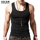 純棉背心男士運動健身緊身修身型打底彈力夏季無袖跨欄內穿潮汗衫