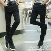 春秋季韓版修身型彈力黑灰色牛仔褲男士新款休閒小腳褲長褲子 雙十二全館免運
