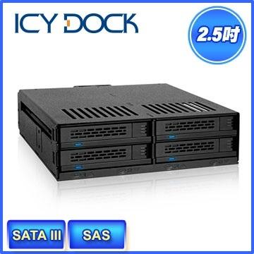 """[富廉網] ICY DOCK MB324SP-B 2.5"""" SAS/SATA HDD&SSD 四層式硬碟背板模組"""