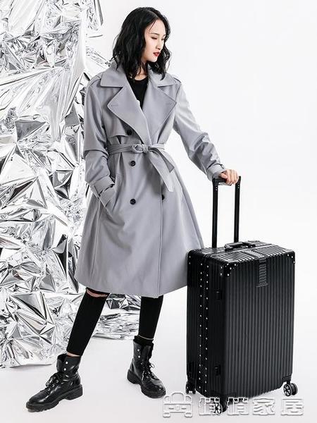 拉桿箱 旅行箱行李箱鋁框拉桿箱萬向輪20女男學生24密碼皮箱子 【母親節特惠】