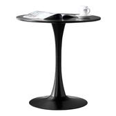 【Hampton 漢汀堡】凱特圓休閒桌-60cm-2色可選黑色60CM