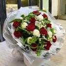依戀 11朵進口紅玫瑰乒乓花束--情人花束.生日花束.聖誕花束