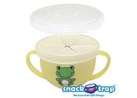 孕媽咪俏貝比 ~~  美國 Snack-Trap 幼兒防漏零食杯(青蛙)