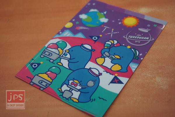 Tuxedosam 企鵝 太空三層文件夾 (紫)
