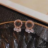 簡約耳釘潮韓國氣質耳環女純銀鋯石高級感耳飾品【貼身日記】