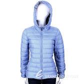 MARELLA-SPORT 水藍色車縫拉鍊設計連帽鋪棉外套 1440386-23