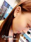耳環 現貨 專櫃CZ鑽 時尚氣質菱形 水晶 微鑲 易扣耳環 S175  批發價 Danica 韓系飾品 韓國連線