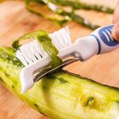 ✭米菈生活館✭【G78】廚房多功能削皮器 刷子 清潔 去皮 刨皮 清洗 蔬果 懸掛 果皮 清洗 瀝乾