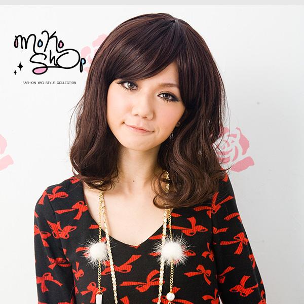 【MokoShop假髮專賣店】梨花頭款微捲中長髮全頂假髮【LY00136】