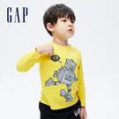 Gap男幼童 互動趣味純棉長袖T恤 732668-金黃色