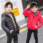 快速出貨-兒童輕薄羽絨棉服連帽冬裝中大男童女童棉衣寶寶棉襖外套