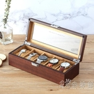 羅威木制手錶盒收納盒玻璃天窗木質展示盒家用儲藏盒手錶收藏盒子 小時光生活館