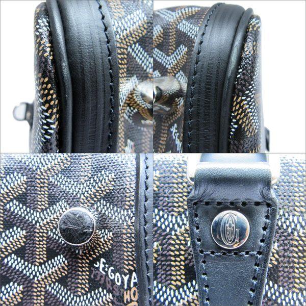 GOYARD 黑色牛皮PVC材質手提波士頓包 Croisiere 40 【二手名牌 BRAND OFF】
