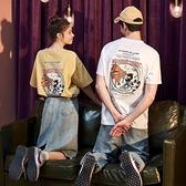 2021新款情侶裝夏裝短袖T恤男潮流純棉半袖ins衣服女寬鬆夏天 【夏日新品】