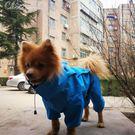 狗狗雨衣寵物小型犬泰迪博美四腳全包連身衣服「七色堇」