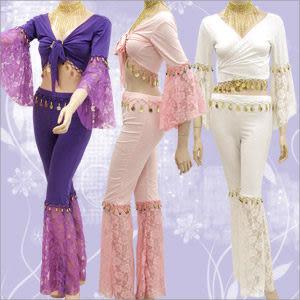 蕾絲玫瑰七分袖金幣絲光棉專業肚皮舞表演服(新品瑕疵)舞蹈配件.肚皮舞飾品用品哪裡買特賣會