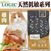 【zoo寵物商城】美國Nature自然邏輯》貓糧雞肉挑嘴貓配方3.48kg7.7磅送睡墊