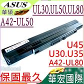ASUS電池(保固最久)-華碩 Pro32,Pro34,PL30,PL80,UL30,UL50,UL80,A41-U53,A41-UL80,A42-UL50
