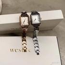 韓國wesure鋼帶女錶金屬小方錶手錶女簡約氣質學生防水石英錶