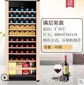 紅酒櫃Candor/凱得紅酒櫃電子恒溫保鮮茶葉家用冷藏冰吧壓縮機玻璃展示LX春季新品