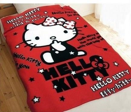 *粉粉寶貝*HELLO KITTY  刷毛毯 懶人毯 墊被毛毯車毯