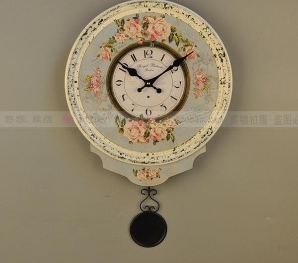 【協貿國際】咖啡館餐廳創意時尚個性鐘錶挂件