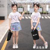 女童夏裝2019新款韓版牛仔短褲薄款兒童中大童夏季女孩熱褲潮 aj12571『黑色妹妹』