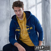 【JEEP】美式休閒山岳刷毛連帽外套 (海軍藍)