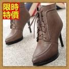 高跟短靴子經典復古-精美時尚女休閒鞋子2色66c2【巴黎精品】