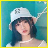 尾牙年貨節漁夫帽男女韓版遮陽帽子字母盆帽洛麗的雜貨鋪