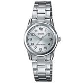 CASIO 經典淑女時裝數字指針腕錶-銀面(LTP-V001D-7B)