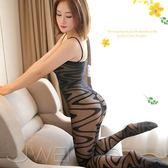 【Queen時尚精品】黑色系 緹花吊帶開襠性感連身貓裝 連身絲襪 連身褲襪 情趣用品