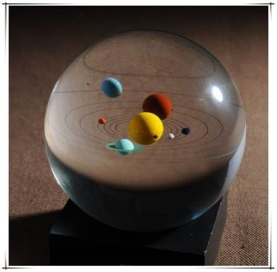水晶光球太陽系模型 教師節禮物創意禮品
