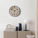 星川藝術掛鐘現代簡約家用鐘飾客廳餐廳輕奢時尚掃秒靜音電子鐘 夢幻小鎮