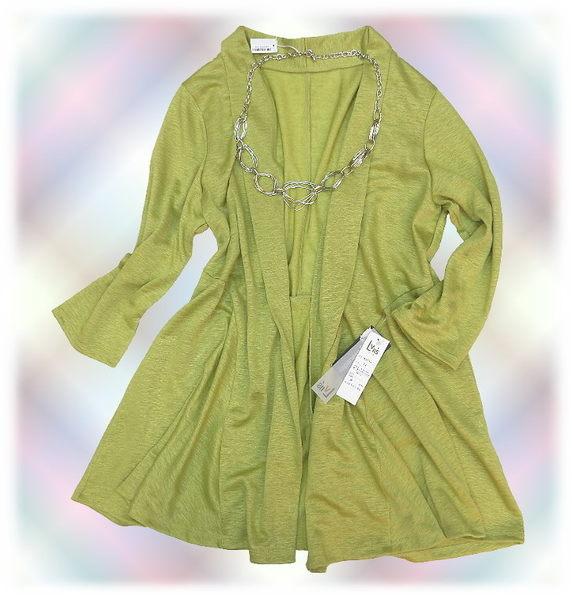 【波克貓哈日網】日本製七分袖罩衫外套◇ Lvll's ◇《清新黃綠色》
