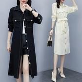 洋裝襯衣裙中大尺碼L-5XL秋季寬鬆遮肉顯瘦中長款襯衫連身裙R026-3217.胖胖唯依二店