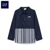 Gap男童 GAP x CONSTANCE TSUI拼接設計拉鏈外套 358395-海軍淺藍