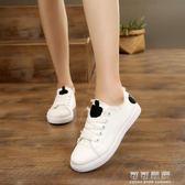 春秋韓版女童小白鞋平底帆布鞋中大童學生鞋女孩子跑步鞋 可可鞋櫃