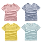 短袖T恤 竹節棉透氣短袖上衣素色上衣 兒童上衣 短袖上衣 88670