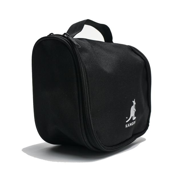 KANGOL 黑 盥洗包 懸掛式 化妝包 手提袋 旅行組 素色 (布魯克林) 6955360220