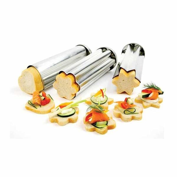 Norpro 麵包模型 3入 Tin Canape Bread Molds [2美國直購]