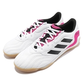 adidas 足球鞋 Copa Sense.3 Indoor Sala 白 粉 男鞋 膠底 室內【ACS】 FW6522